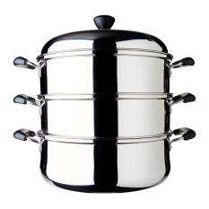 Dolphin Collection Stainless Steel Steamer Pot 3 Layers 23 67L Deal