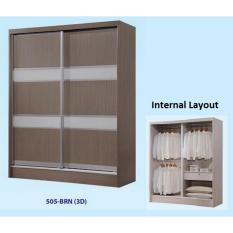 Sale Dominiq 505 Brn Wardrobe Free Delivery Free Assembly