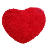 New Door Mat Heart Shaped Kitchen Bathroom Non Slip Carpet Red 70X80Cm Intl