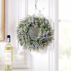 Door wall Window Hanging Artificial Fake Lavender Flower wreath Decoration