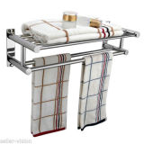Double Chrome Wall Mounted Bathroom Towel Rail Holder Storage Rack Reviews