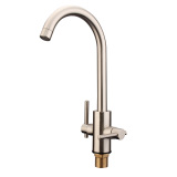 Double Handle Hot Cold Mixer Water Tap Basin Faucet Kitchen Sink Bathroom Nickel Coupon Code
