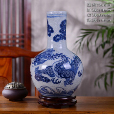 Where Can You Buy Dragon Chinese Living Room Flower Arrangement Old Style Furnishings Vase