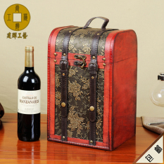 Low Price Promotion Four Only Grape Skin Wine Box Gift Box Four a Wine Gift Box Goods Wooden Box