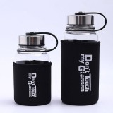 Review Dsstyles Portable Glass Water Bottle With Protective Bag 1000Ml 700Ml Sports Outdoor Water Bottles Travel Heat Proof Drinking Teapot Volume 1000Ml Oem Branding On China