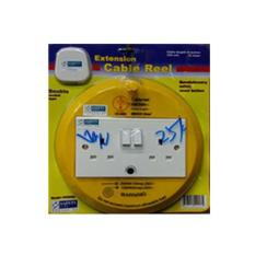 Review Dt Double Socket 6 Metres Extension Cable Reel Ck2002 Oem