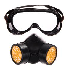 Dual Gas Filter Anti Dust Paint Respirator Mask Goggles Industrial Safety By Welcomehome.