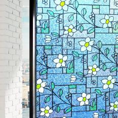 Buy Duofire Window Film No Glue 3D Static Decorative Privacy Stained Privacy Glass Film Pvc Waterproof Sticker Lzdp003 1 Size 60 X 200Cm