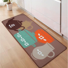 Cheaper Durable Tea Set Printed Anti Slip Floor Mat Water Absorbent Bathroom Kitchen Carpet Home Decorative Area Rugs 50 X 150Cm