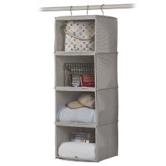 Color Woven Wardrobe Multi Hanging Organizing Storage Bag Storage Hanging Bag In Stock