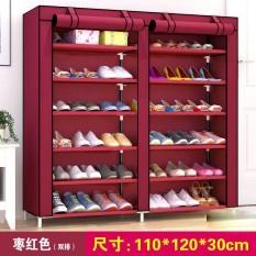 Dustproof Non-woven Fabric Shoe Storage Rack Shoes Organizer Stand Shelf (H*L*W) 110*120*30cm - intl