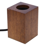 Compare Prices For E27 Modern Minimalist Black Peach Wood Lamp Holder Intl