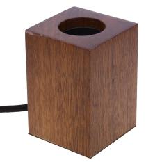 Coupon E27 Modern Minimalist Black Peach Wood Lamp Holder Intl