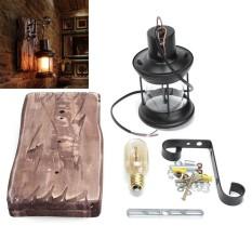 E27 Vintage Industrial Metal Sconce Wall Lamp Fixture Light Home Decor + Blub - intl