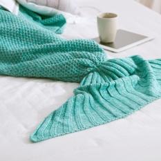 Buy Eachgo 70X140Cm Beautiful Mermaid Tail Shape Handmade Crochet Knitted Blanket Anti Pilling Sleeping Quilt Child Size Intl Cheap China