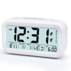 Price Compare Easy To Set Alarm Clock Best Alarm Clock For Heavy Sleepers Soft Light Sensor Technology White Alarm Clock Kids Room Clocks Home Desk Bedside Clock For Teens Or Kids White Intl