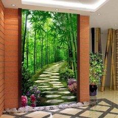 Eco-friendy 3d huge mural fresh forest small road papel de parede for bedroom sofa tv wallpaper murals wallpaper(Export)  - Intl