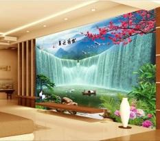 Eco-friendy 3d huge mural the large waterfall for bedroom sofa tv wallpaper (EXPORT) (Intl)
