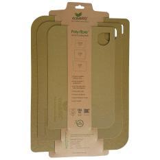 Great Deal Ecoware Bamboo Fiber 3Pcs Cutting Mats Wheat
