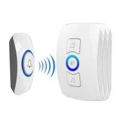 Brand New Electronic Infrared Door Bell Alarm Sensor Wireless Doorbell White Intl