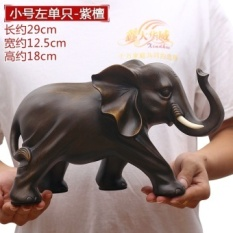 Elephant ornaments one pair of lucky home accessories feng shui living room wine cabinet office desktop decoration crafts furnishings - intl