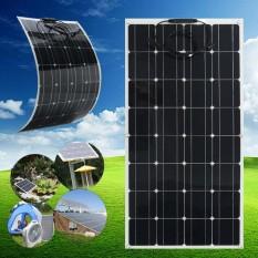 Elfeland 100W 18V Semi Flexible Mono Solar Panel Off Grid Kit For Home RV Boat - intl