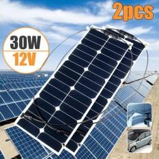 Elfeland 30W 12V Sunpower Semi Flexible Solar Panel Battery Charger For RV Boat - intl