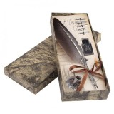 English Calligraphy Feather Dip Quill Pen Writing Ink Set Stationery Gift Box With 5 Nibs Intl Best Price