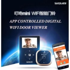 Sale Eques Veiu Mini R21 Digital Smart Wifi Door Viewer Premium Gold Eques Cheap