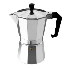 Sale Era Aluminum 8 Angle Moka Espresso Cup Continental Moka Percolator Pot 3Cup 6Cup Intl China