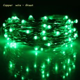 Recent Erchen 10M 100Led Copper Wire Led String Light With 12V1A Uk Plug Adapter For Decoration Garden Fairy Lights Green