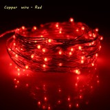 Coupon Erchen 10M 100Led Copper Wire Led String Light With 12V1A Uk Plug Adapter For Decoration Garden Fairy Lights Red