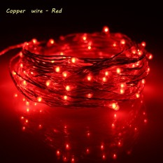 Erchen 10M 100Led Copper Wire Led String Light With 12V1A Uk Plug Adapter For Decoration Garden Fairy Lights Red Price Comparison