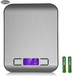 Low Cost Esogoal Digital Kitchen Scale Multifunction Food Scale 11 Lb 5 Kg Silver Stainless Steel Intl