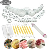 Esogoal Fondant Cake Decorating Kit 14 Sets 46Pcs Assorted Modeling Tools And Plunger Cutters For Fondant Gum Paste Sugarcraft Intl In Stock
