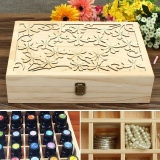 Price Comparison For Essential Oils Box Storage Case Wooden Laser Cut Container 70 Slots 14X10X3 5 Intl