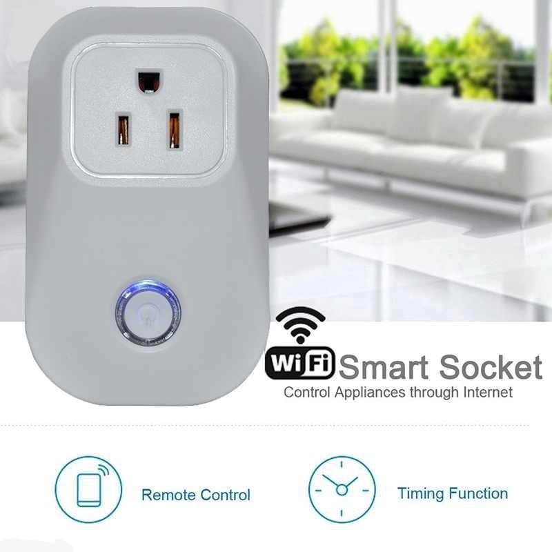 EU Power Plug Remote Wireless Switch Socket Works with mobilephone APP - intl