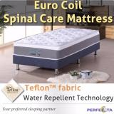 Promo Single Size Euro Coil Spinal Care Mattress With Teflon Fabric Water Repellent Technology