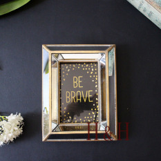 European Style American Neo-Classical Vintage Antique Finish Gold Mirror Creative Frame Cool Photo Frames Domestic Ornaments