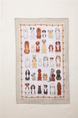 Style European And American Linen Hand Painted Tea Towel Sale