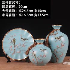 European Ceramic Dried Flowers Living Room Shelf Rack Vase Flower Arrangement Is Deal