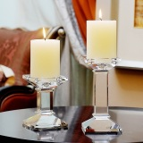 For Sale European Crystal Glass Candle Holder Candle