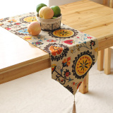 Discount Simple Linen European Sunflowers Table Flag