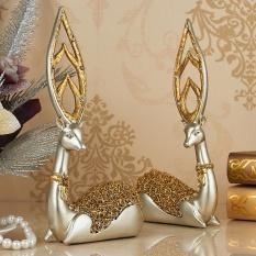 European-model Ornament Deer Creative Home Decorations Living Room Ornaments Crafts Wedding Gift Wine Cooler Bar - intl