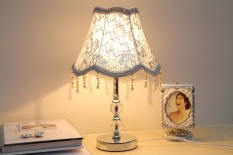 European Simple Desk Lamp LED Study Room Living Room Bedroom Bedside Lamp Fashion Crystal Creative Energy Saving Lamp - intl