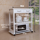 Low Cost European Style Dining Car Trolley Floor Oven Shelf Microwave Oven Rack