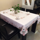 Where Can I Buy European Style Dining Table Cloth Chair Cover Cushion Suit Rectangular Coffee Table Mat Fabric Garden Fresh Floral Home Round Tablecloth