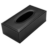 Price Comparisons Of European Style Pu Leather Home Office Hotel Car F*c**l Tissue Box Case Holder Black