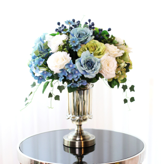 Review Modern Simple Crystal Glass American Dining Table Flower Arrangement European Vase Oem On China