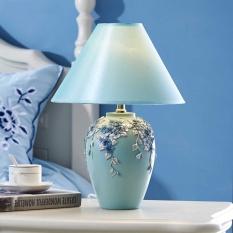 European table lamp bedroom bedside lamp warm warm light eye protection simple modern lamp led lights - intl